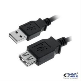 CABLE USB 2.0 PROLONGACION A/M-A/H 1.8M NEGRO