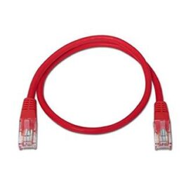 CABLE RED LATIGUILLO RJ45 CAT.6 UTP AWG24,1M ROJO NANOCABLE